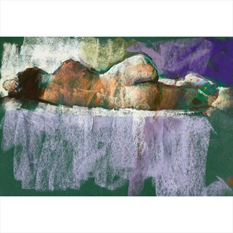 model with sock Artistic Nude Artwork by Artist JonD