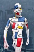 mondrian bodypainting artistic nude photo by model lars