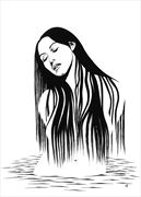 monica bellucci water nymph artistic nude artwork by artist subhankar biswas