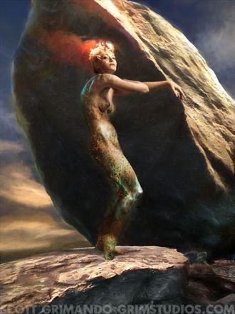 monolith artistic nude photo by artist scott grimando