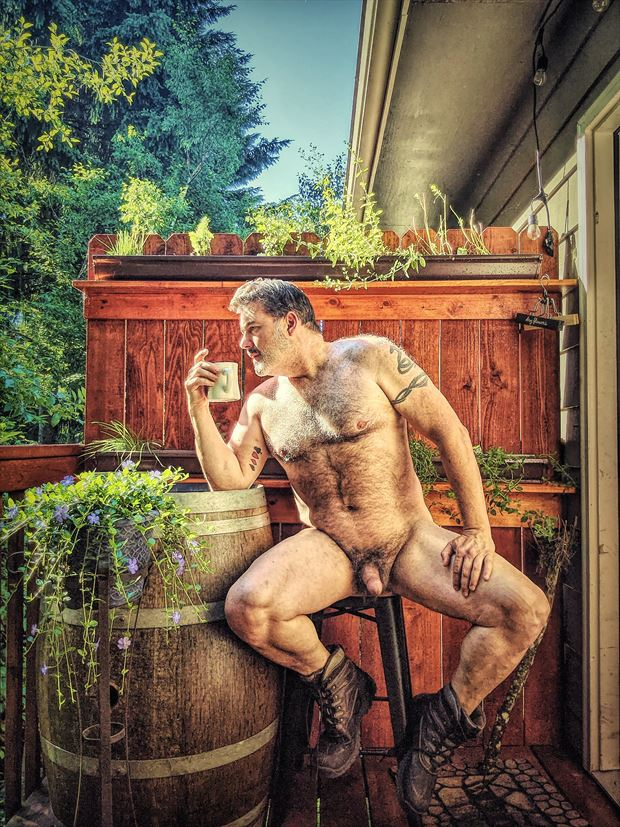 morning coffee in the pnw 1 artistic nude photo by photographer barry gallegos