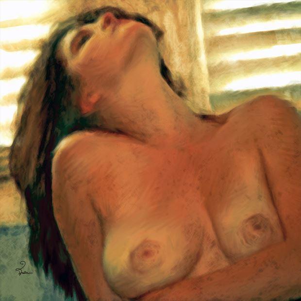 morning scene artistic nude artwork by artist van evan fuller