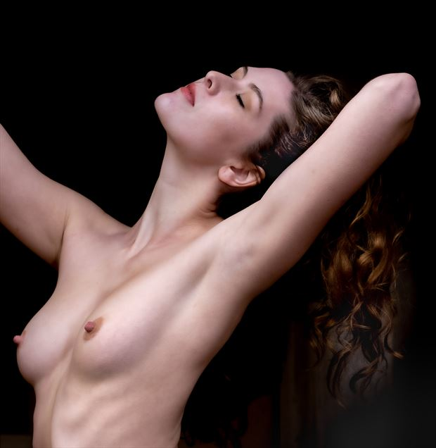 morning stretch artistic nude photo by photographer evan