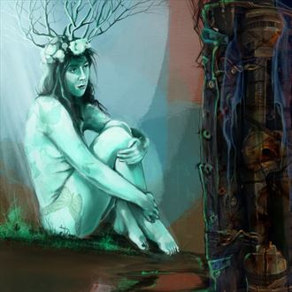 mother earth thanks to danielle nature artwork by artist nick kozis