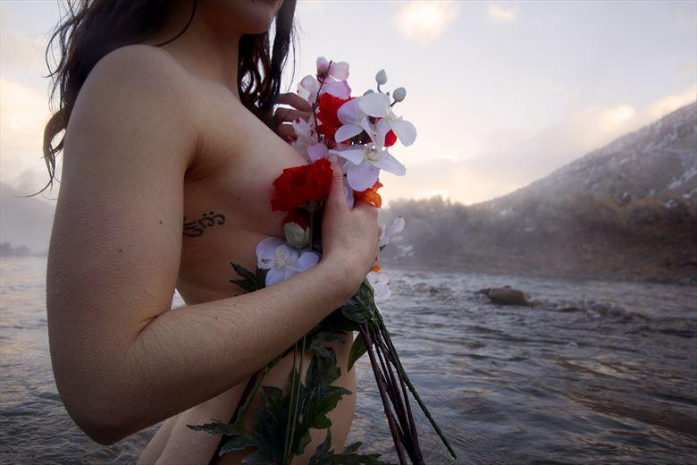 mountain flower artistic nude photo by photographer fotosapien