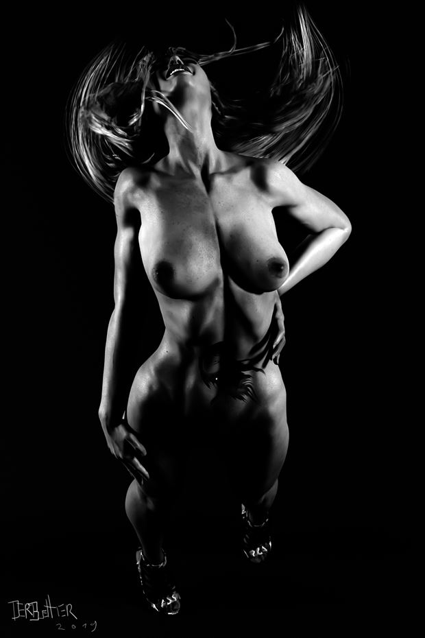 movement of the soul artistic nude artwork by artist derbuettner