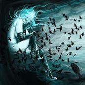 murder of crows 1 fantasy artwork by artist nick kozis