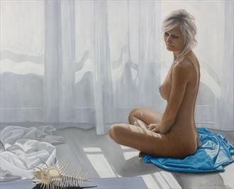 murex pecten artistic nude artwork by artist jean pierre leclercq