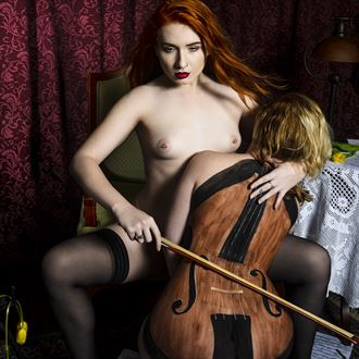 music hath charmes to soothe the savage breast artistic nude photo by photographer david lintz