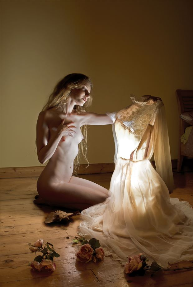 my grandmother s wedding dress artistic nude photo by photographer douglas ross