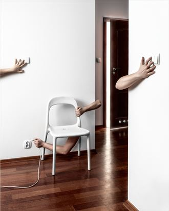 my hands are full surreal photo by artist mike nekim
