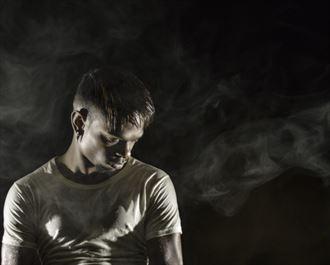 mykoal in smoke chiaroscuro photo by photographer dan simoneau