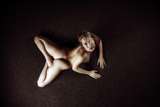 naked on the flor artistic nude artwork by photographer jens schmidt