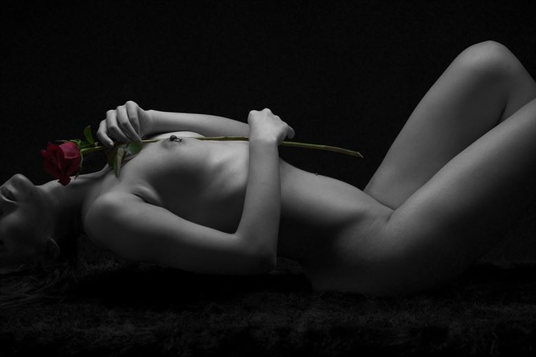 nancy bodyscape with flower artistic nude photo by photographer whitecranephoto