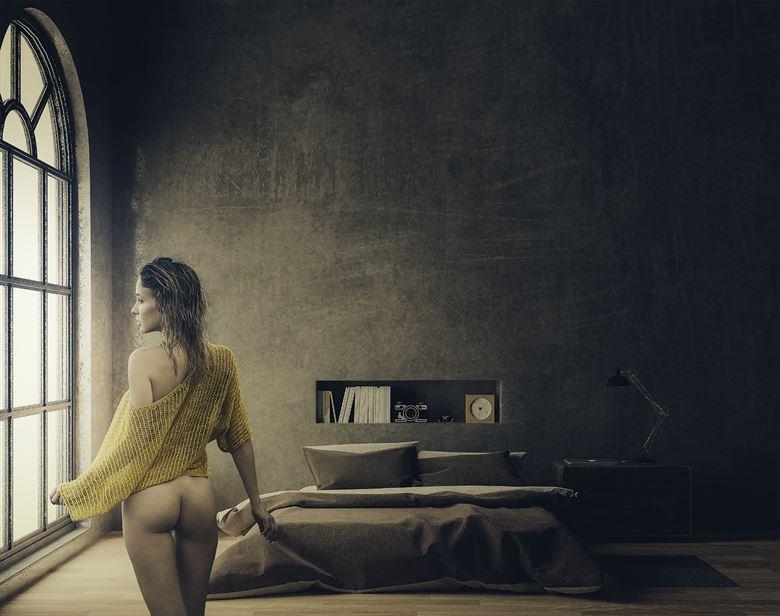 natali at home lingerie artwork by photographer dieter kaupp