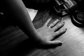 natalia rests sitting artistic nude artwork by photographer amilcar moretti