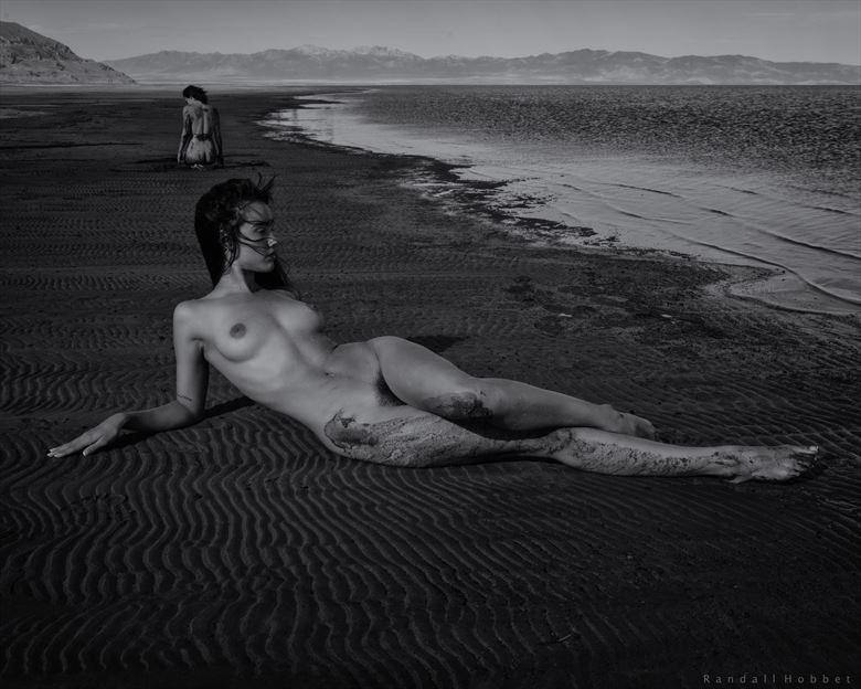 nausicaa on the beach artistic nude photo by photographer randall hobbet