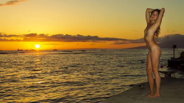 nekkid sunset artistic nude photo by photographer opp_photog