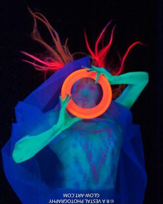 neon bodypaint artistic nude photo by photographer ron vestal