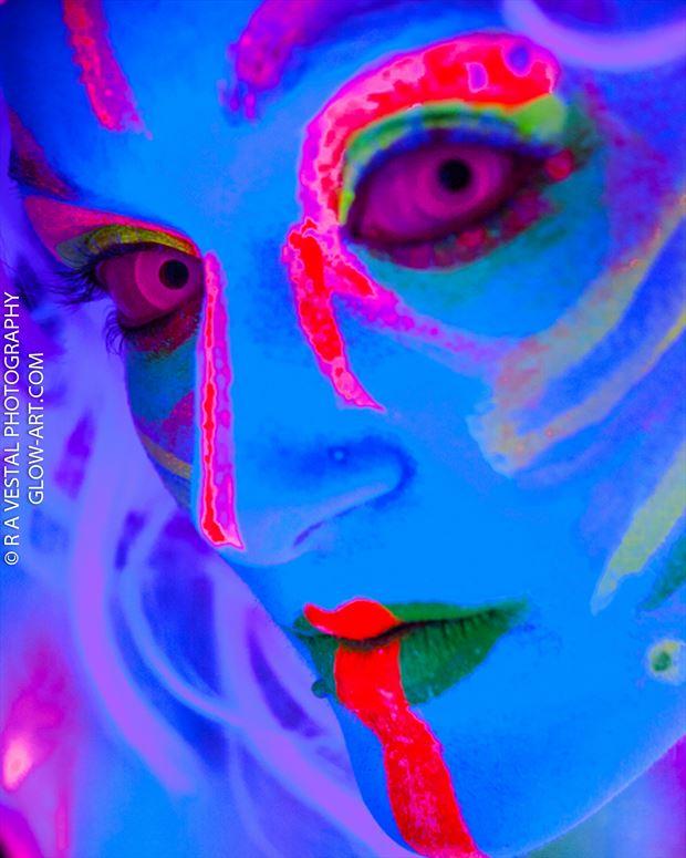 neon bodypaint surreal photo by photographer ron vestal