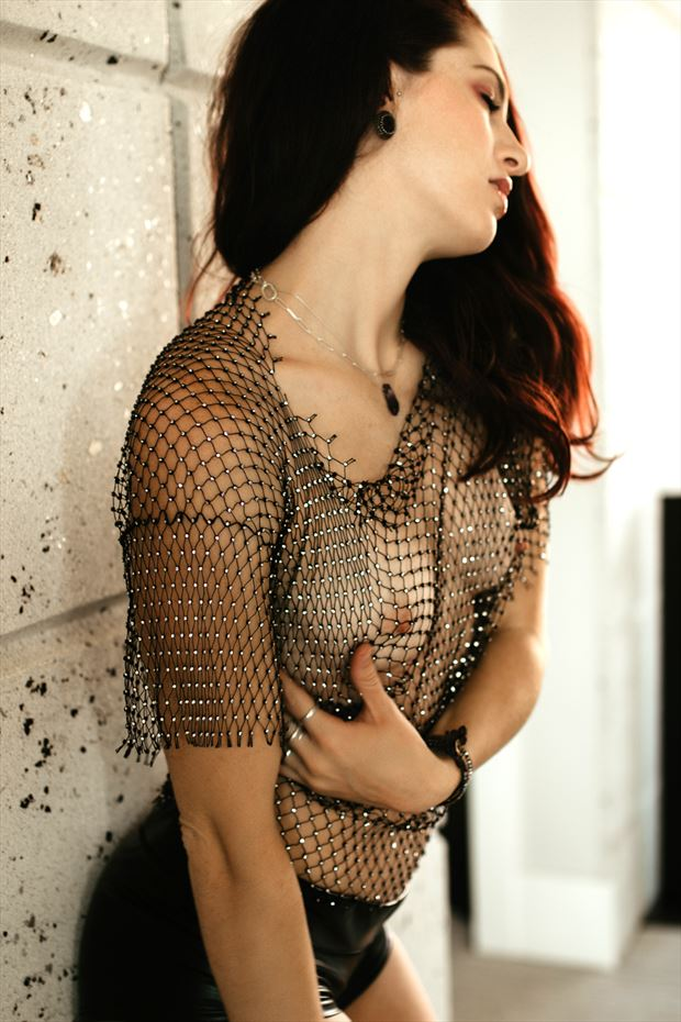 netted repose sensual photo by model talyawild