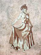 new skirt artistic nude artwork by artist kevin houchin