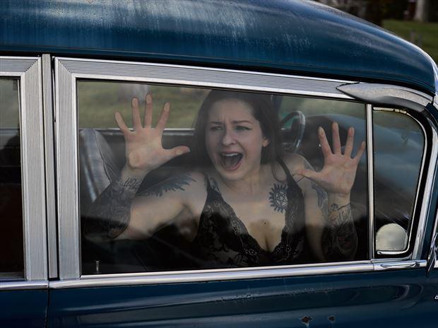 nicole and the 62 caddy hearse ii cosplay photo by photographer avant garde_art