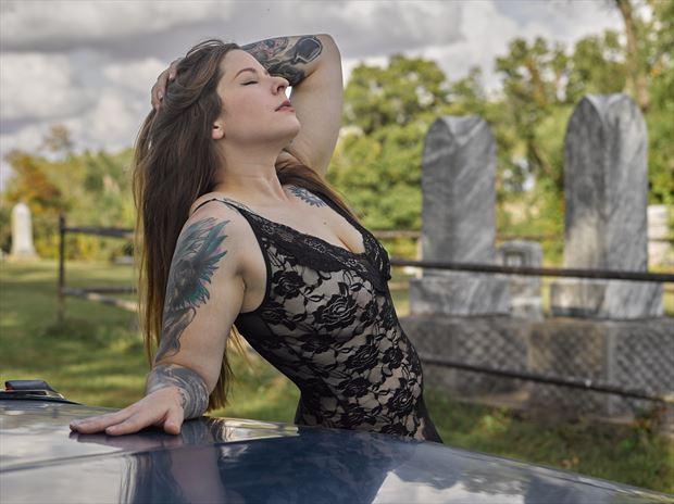 nicole and the 62 caddy hearse v fantasy photo by photographer avant garde_art