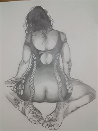 nicole peachy marshall portrait 2 lingerie artwork by artist boot cheese 3000