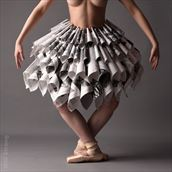 nova in a paper dress artistic nude photo by photographer yb2normal