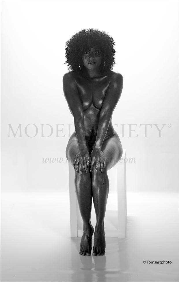 nubian queen artistic nude artwork by photographer tomsartphoto