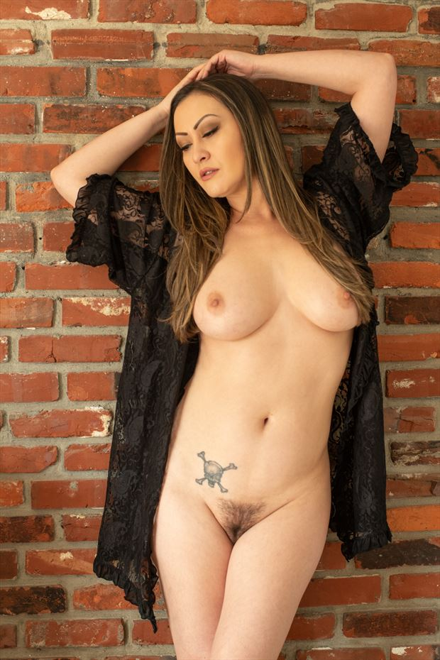 nude against brick artistic nude photo by photographer gsphotoguy