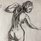 nude back study artistic nude artwork by artist edoism