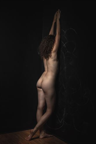 nude facing the wall artistic nude photo by photographer claude frenette