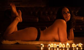 nude in candle light artistic nude photo by photographer arcis