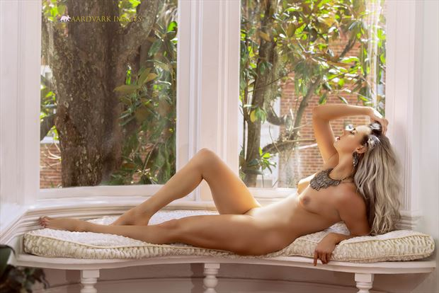 nude in the white window no 1 artistic nude photo by model alexandra queen