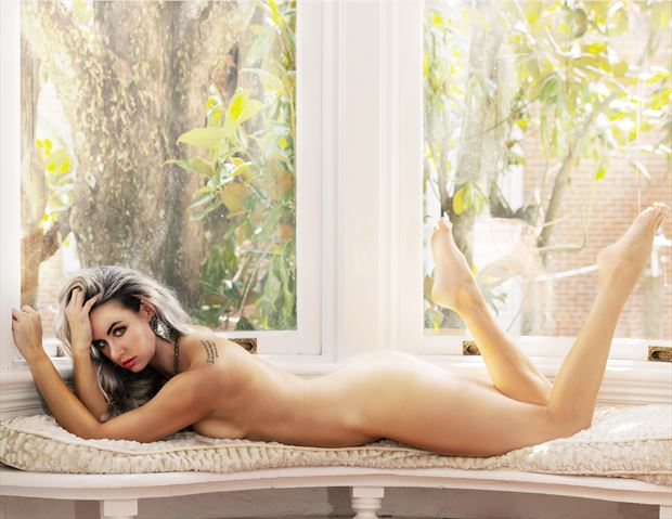 nude in the white window no 2 artistic nude photo by model alexandra queen