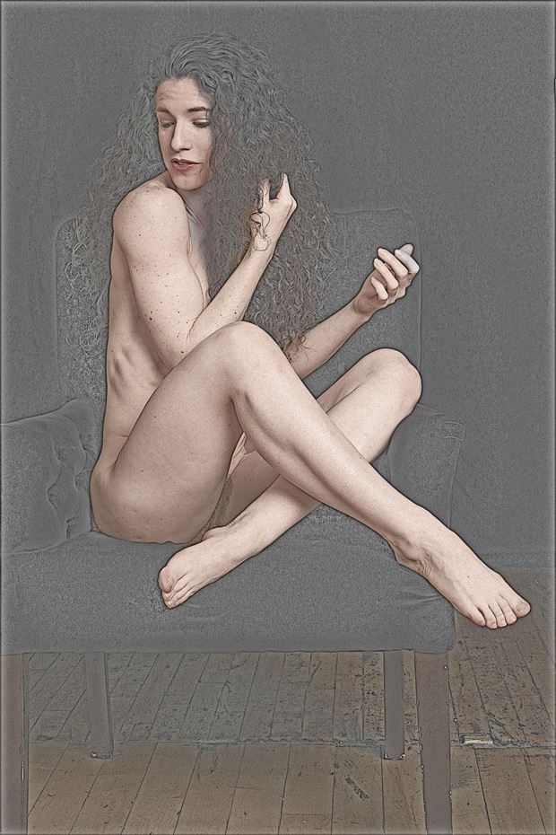 nude line drawing implied nude photo by photographer robert l person