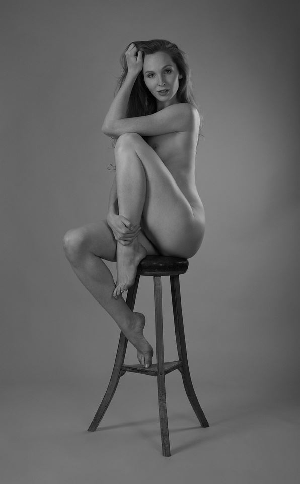 nude on a high stool artistic nude photo by photographer anders bildmakare