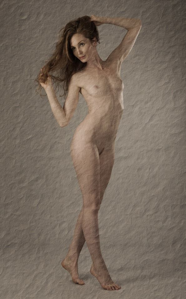 nude on old paper artistic nude photo by photographer anders bildmakare