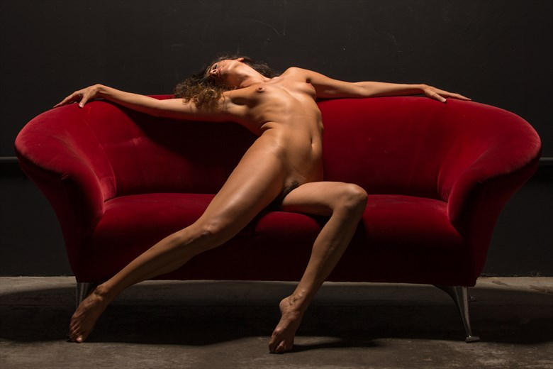 nude on red Artistic Nude Photo by Photographer biffjel