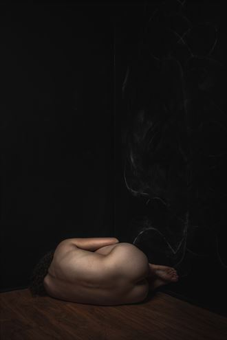 nude on the floor artistic nude photo by photographer claude frenette