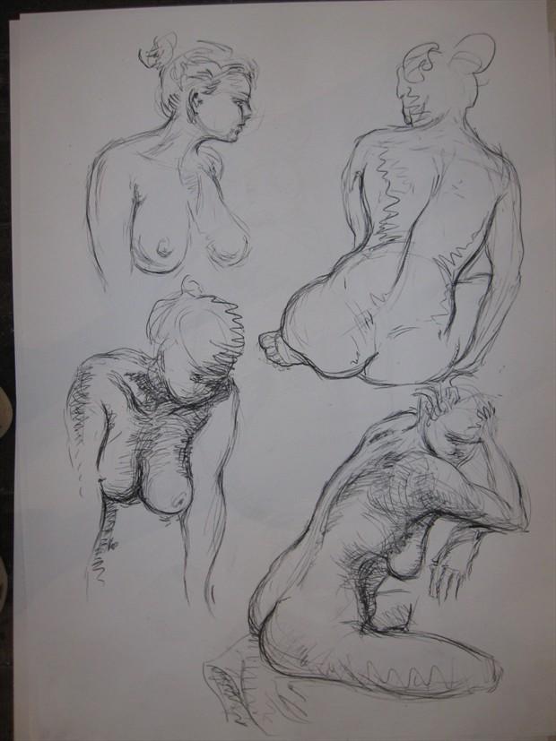 nude study 3 Figure Study Artwork by Photographer jymdarling