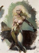nude study after frank frazetta artistic nude artwork by artist edoism