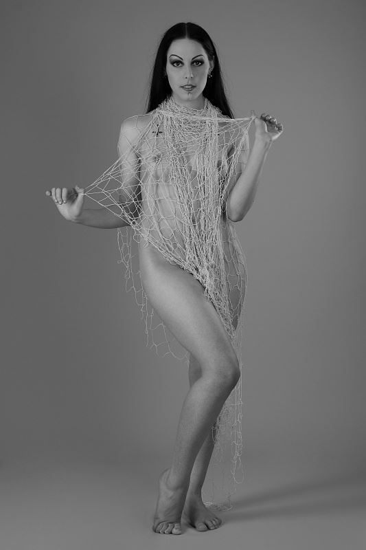 nude with a fishing net artistic nude photo by photographer anders bildmakare