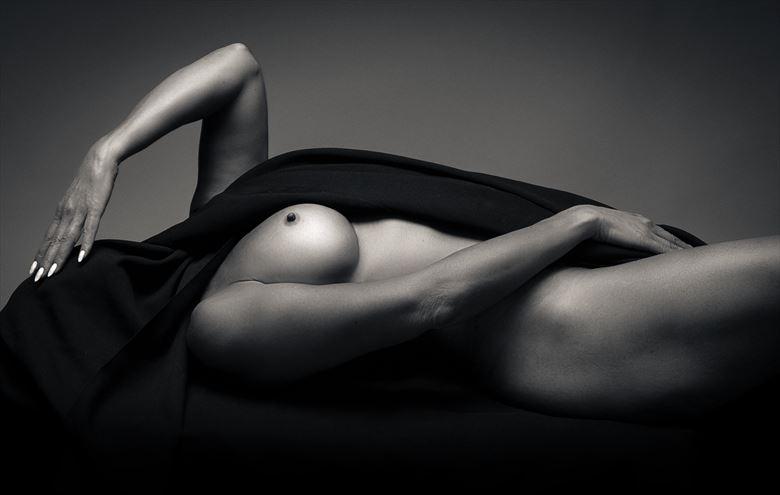 nude with black drape 8 artistic nude photo by photographer thatzkatz