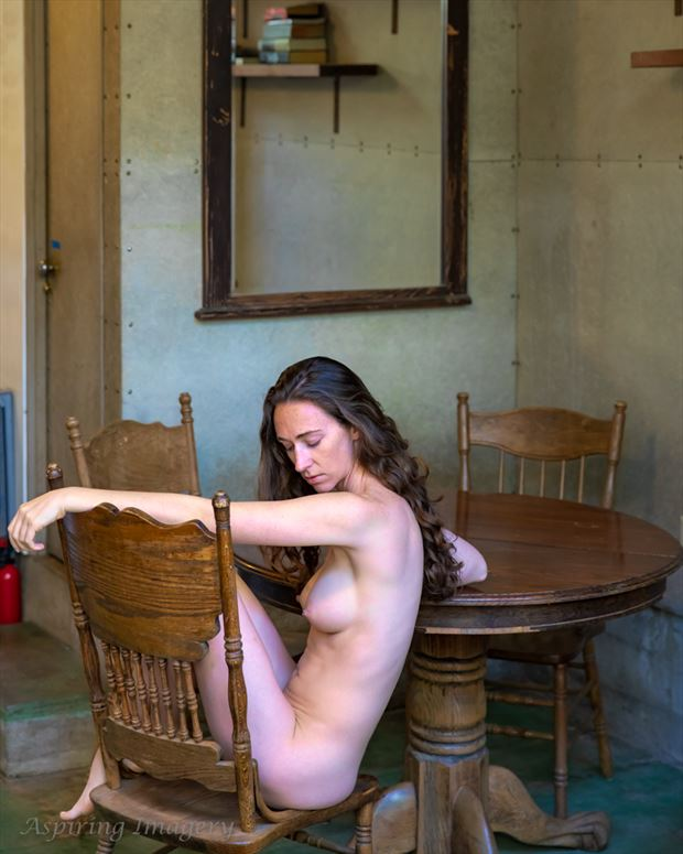 nude with table artistic nude photo by photographer aspiring imagery