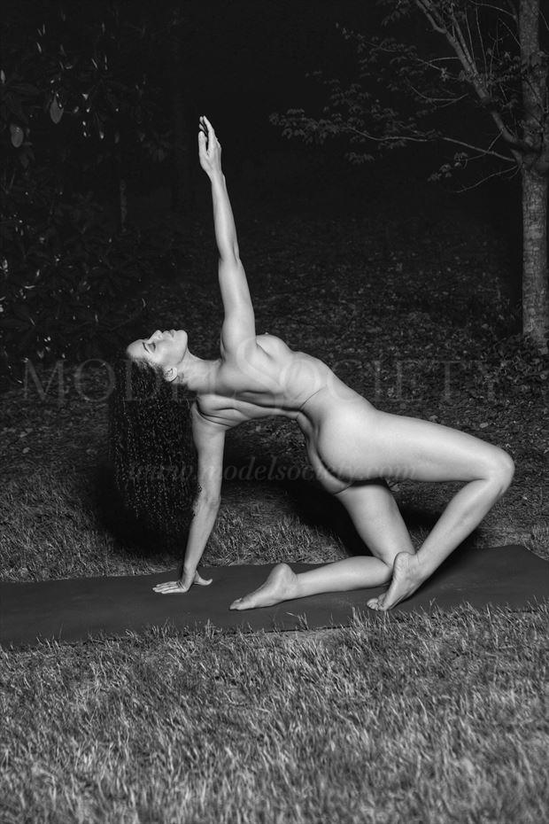nude yogini at night artistic nude photo by photographer csdewitt buck
