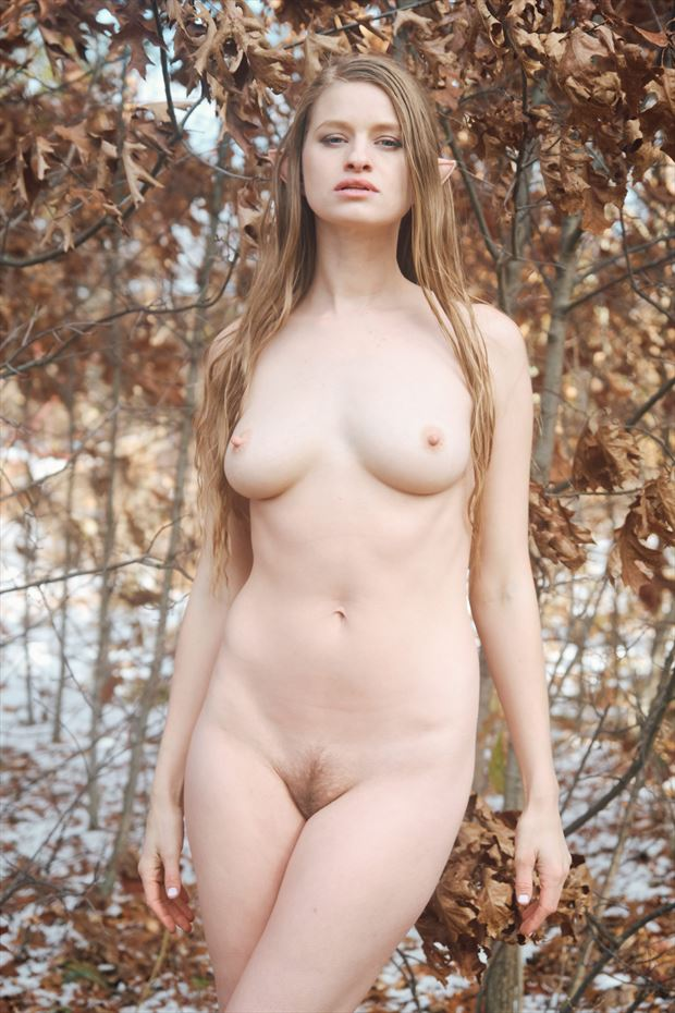 nymph in the grove artistic nude photo by model julina