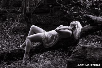 nymph on a log lingerie photo by photographer arthur_steele